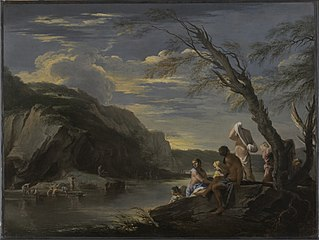 Landscape with Bather