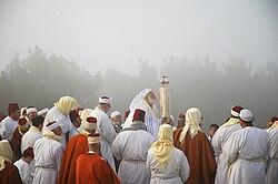 Samaritains sur le mont Garizim pendant la Pâque