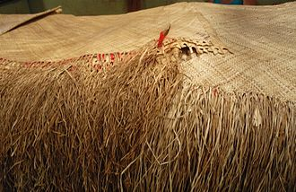 'ie toga - Common type of ʻie toga with a coarse weave sold at a market in Sāmoa.