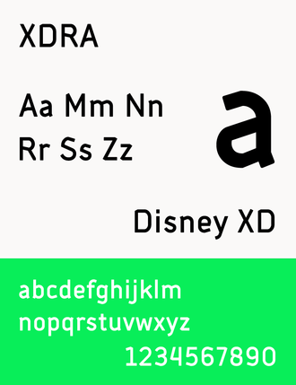 Disney XD - The typeface XDRA that was created for Disney XD in 2014