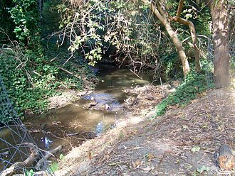 San Pablo Creek - San Pablo Creek just behind the El Sobrante Library