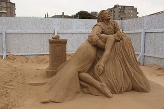 Sand festival - Sand Sculpture at the Weston-super-Mare Sand Sculpture Festival of Romeo and Juliet by Marielle Heessels