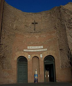 The basilica of Santa Maria degli Angeli e dei Martiri, built in the remains of the baths.