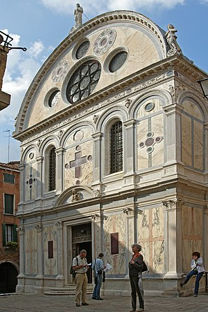 Cannaregio - Image: Santa Maria dei Miracoli (facciata)