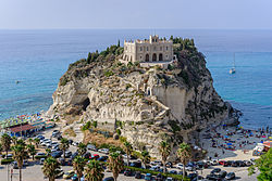 The monastery of Santa Maria dell'Isola is built on a hill near the beach of Tropea.
