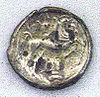 Coin of the Santones, 1st century BCE, Cabinet des Médailles.