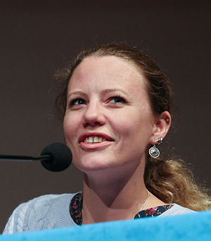Sarah Harrison (journalist) - Harrison at the 30th Chaos Communication Congress in Hamburg, 2013