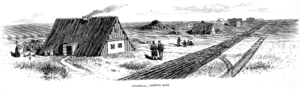Burdei - Mennonite burdeis in the village of Gnadenau, Kansas, United States (Frank Leslie's Illustrated March 20, 1875)