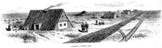 Burdei - Mennonite burdeis in the village of Gnadenau, Kansas, United States (Frank Leslie's Illustrated Newspaper March 20, 1875)