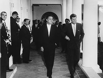 Sargent Shriver - Shriver and JFK at the White House in August 1961.