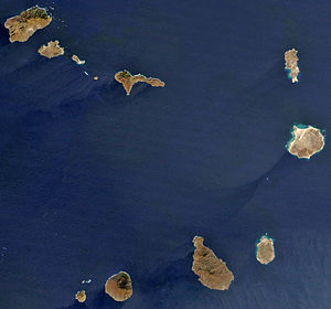 Geography of Cape Verde - Cabo Verde satellite image.