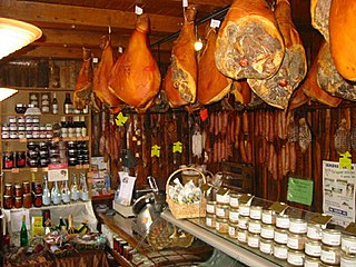 Charcuterie Branch of cooking of prepared meat products, primarily from pork