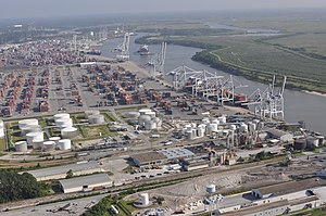 Port of Savannah - Image: Savannah harbor