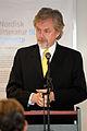 Savar Gestsson islands ambassador i Danmark talar vid lanseringen av Nordisk litteratur til tjeneste pa sorte diamant i Kopenhamn 2008-03-05.jpg