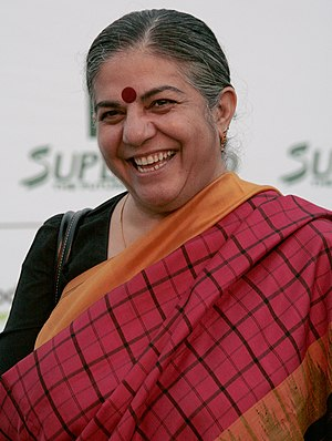 "Vandana Shiva on the ""green carpet"" ..."