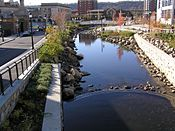 Saw Mill River in Getty Square November 2012