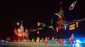 Storici Sbandieratori delle Contrade di Cori al Military Tattoo di Moscow