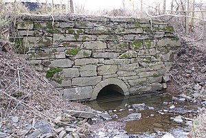 Schuylkill River Trail - The historic Schuylkill Canal aqueduct carries the trail over Crossman's Run near Oaks