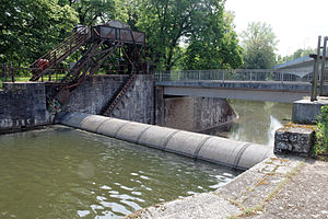 Roller dam - The first roller dam in the world, built 1902 in Schweinfurt