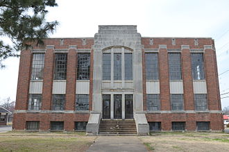 Scott County, Arkansas - Image: Scott County Courthouse, Waldron, AR
