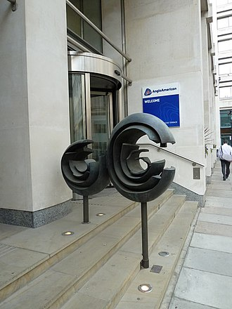 Anglo American plc - Sculptures outside Anglo American offices in London