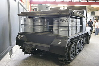 Sd.Kfz. 11 - A Sd.Kfz. 11/2 painted with the insignia of the Werfer-Lehr Regiment