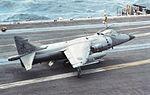 Sea Harrier FRS1 of 800 NAS on USS America (CV-66) in 1991.jpg