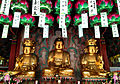 Seated Wooden Sakyamuni Buddha Triad at Cheonggoksa Temple 01.JPG