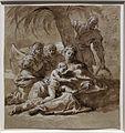 Sebastiano ricci, disegni dell'album, 1706-1725 ca. (venezia, accademia) 17 riposo durante la fuga in egitto.jpg