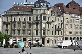 Neue Zürcher Zeitung - Head office in Zürich, as seen from Sechseläutenplatz