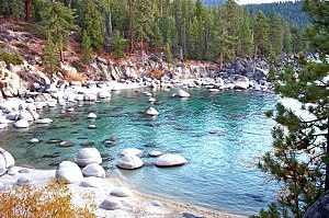 Secret Beach on Lake Tahoe's Nevada side, 2003