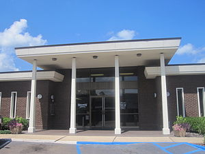 Stephens, Arkansas - Across from the municipal building, Security Bank is a major business in Stephens.