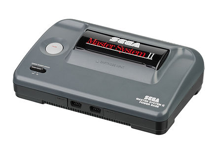 The Master System II, a cost-reduced version of the Master System released in 1990. Sega-Mastery-System-MkII-Console-FL.jpg