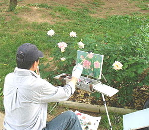 Seoul Grand Park - Image: Seoul Grand Park Rose Garden Painter