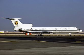 Shaheen Air - A Shaheen Air International Tupolev Tu-154M taxiing at Dubai International Airport, United Arab Emirates in 1999