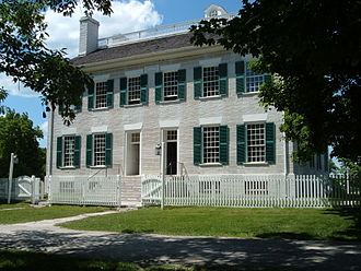 Pleasant Hill, Kentucky - Centre Family Dwelling, once home to over 100 Shakers, was constructed of limestone quarried from the top of the palisades of the Kentucky River.