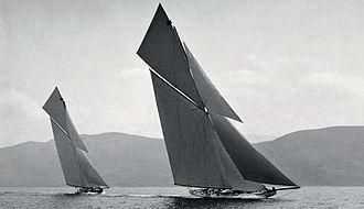 William Fife - Shamrock III (1903) launched in Dumbarton