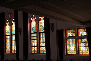 Shanghai No. 3 Girls' High School - Shanghai No. 3 Girls' High School, stained glass in theater