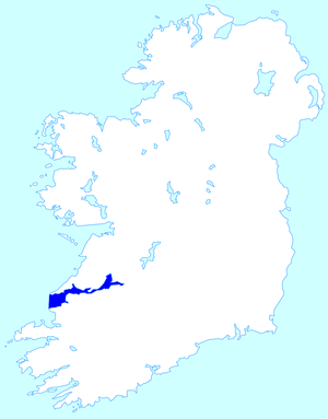 Shannon Estuary - Location of the Shannon Estuary within Ireland