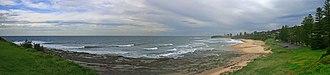 Coledale, New South Wales - Image: Sharkey's beach coledale