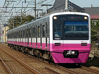 Shin-Keisei Line - An N800 series electric multiple unit in revised livery in March 2015
