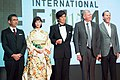 Shinohara Tetsuo, Sato Koichi, Honda Tsubasa, Robert Zemeckis & Jack Rapke at Opening Ceremony of the 28th Tokyo International Film Festival (21834328234).jpg