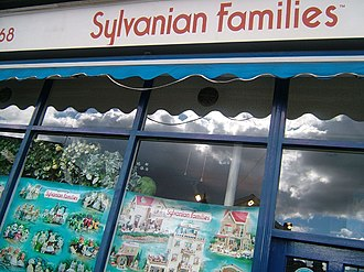 Sylvanian Families - Shop window of the Sylvanian Families store in London