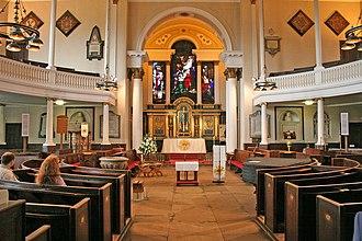 St Chad's Church, Shrewsbury - Inside St Chad's Church, looking towards the sanctuary