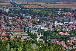 A view of Shumen from above