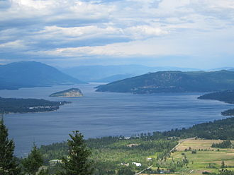 Shuswap Lake - Western reaches of Shuswap Lake