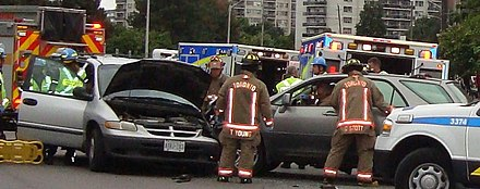 A side collision after a driver misjudged his time to make a left turn Side collision.jpg