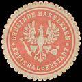 Siegelmarke Gemeinde Harsleben Kreis Halberstadt W0384182.jpg
