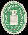 Siegelmarke Königlich Sächsisches Standesamt Knauthain - Amtshauptmannschaft Leipzig W0252093.jpg