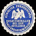 Siegelmarke K. Pr. Ersatzbataillon bei der Artillerie Prüfungskommission W0238218.jpg